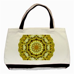 Fractal Flower Basic Tote Bag (two Sides) by Simbadda