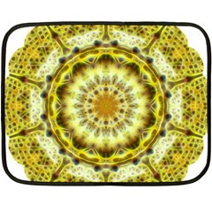 Fractal Flower Fleece Blanket (mini) by Simbadda