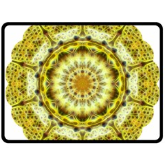 Fractal Flower Fleece Blanket (large)  by Simbadda