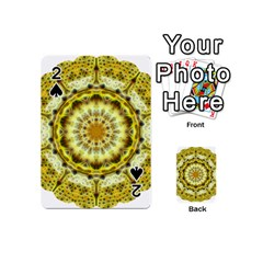 Fractal Flower Playing Cards 54 (mini)  by Simbadda