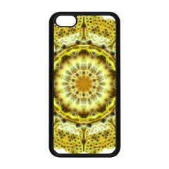 Fractal Flower Apple Iphone 5c Seamless Case (black) by Simbadda