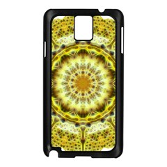 Fractal Flower Samsung Galaxy Note 3 N9005 Case (black) by Simbadda