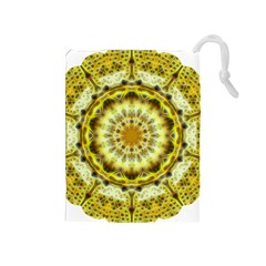 Fractal Flower Drawstring Pouches (medium)  by Simbadda