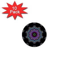 Fractal Lace 1  Mini Buttons (10 Pack)  by Simbadda