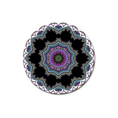 Fractal Lace Magnet 3  (round) by Simbadda