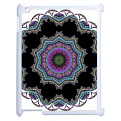 Fractal Lace Apple Ipad 2 Case (white) by Simbadda