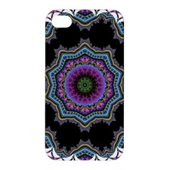 Fractal Lace Apple Iphone 4/4s Premium Hardshell Case by Simbadda