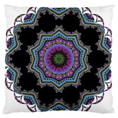 Fractal Lace Large Cushion Case (two Sides) by Simbadda