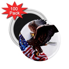 Independence Day United States 2 25  Magnets (100 Pack)  by Simbadda