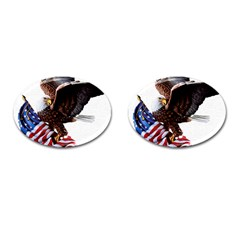 Independence Day United States Cufflinks (oval) by Simbadda