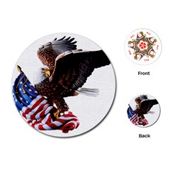 Independence Day United States Playing Cards (round)  by Simbadda