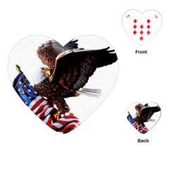 Independence Day United States Playing Cards (heart)  by Simbadda