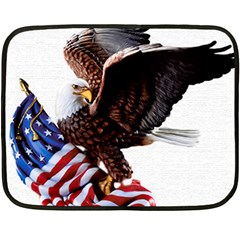 Independence Day United States Fleece Blanket (mini) by Simbadda