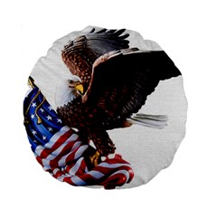 Independence Day United States Standard 15  Premium Round Cushions by Simbadda