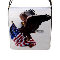 Independence Day United States Flap Messenger Bag (l)  by Simbadda