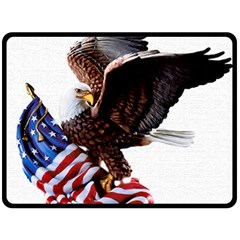 Independence Day United States Double Sided Fleece Blanket (large)  by Simbadda