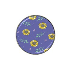 Floral Flower Rose Sunflower Star Leaf Pink Green Blue Yelllow Hat Clip Ball Marker (10 Pack) by Alisyart