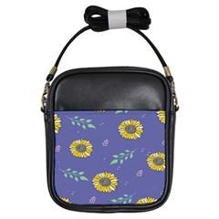 Floral Flower Rose Sunflower Star Leaf Pink Green Blue Yelllow Girls Sling Bags by Alisyart