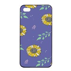 Floral Flower Rose Sunflower Star Leaf Pink Green Blue Yelllow Apple Iphone 4/4s Seamless Case (black) by Alisyart