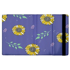 Floral Flower Rose Sunflower Star Leaf Pink Green Blue Yelllow Apple Ipad 2 Flip Case by Alisyart