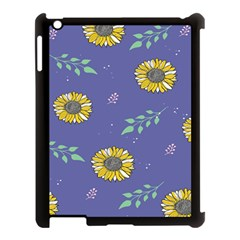 Floral Flower Rose Sunflower Star Leaf Pink Green Blue Yelllow Apple Ipad 3/4 Case (black) by Alisyart