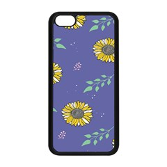 Floral Flower Rose Sunflower Star Leaf Pink Green Blue Yelllow Apple Iphone 5c Seamless Case (black) by Alisyart