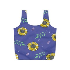 Floral Flower Rose Sunflower Star Leaf Pink Green Blue Yelllow Full Print Recycle Bags (s)  by Alisyart