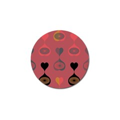 Heart Love Fan Circle Pink Blue Black Orange Golf Ball Marker (10 Pack) by Alisyart