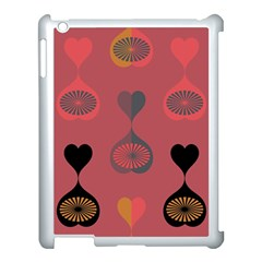Heart Love Fan Circle Pink Blue Black Orange Apple Ipad 3/4 Case (white) by Alisyart