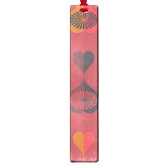 Heart Love Fan Circle Pink Blue Black Orange Large Book Marks by Alisyart