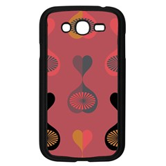 Heart Love Fan Circle Pink Blue Black Orange Samsung Galaxy Grand DUOS I9082 Case (Black)