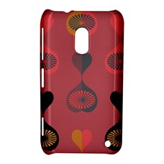 Heart Love Fan Circle Pink Blue Black Orange Nokia Lumia 620 by Alisyart