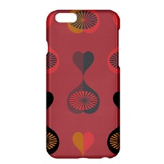 Heart Love Fan Circle Pink Blue Black Orange Apple Iphone 6 Plus/6s Plus Hardshell Case by Alisyart