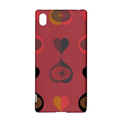 Heart Love Fan Circle Pink Blue Black Orange Sony Xperia Z3+ by Alisyart