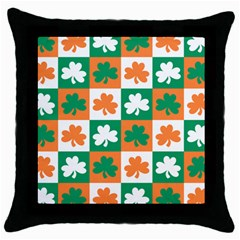 Ireland Leaf Vegetables Green Orange White Throw Pillow Case (black) by Alisyart