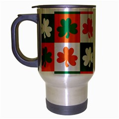 Ireland Leaf Vegetables Green Orange White Travel Mug (silver Gray) by Alisyart
