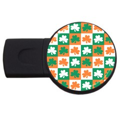 Ireland Leaf Vegetables Green Orange White Usb Flash Drive Round (4 Gb) by Alisyart