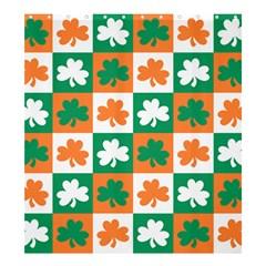 Ireland Leaf Vegetables Green Orange White Shower Curtain 66  X 72  (large)  by Alisyart