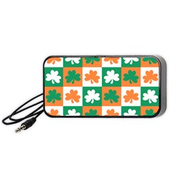 Ireland Leaf Vegetables Green Orange White Portable Speaker (black) by Alisyart