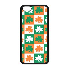 Ireland Leaf Vegetables Green Orange White Apple Iphone 5c Seamless Case (black) by Alisyart