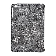 Flower Floral Rose Sunflower Black White Apple Ipad Mini Hardshell Case (compatible With Smart Cover) by Alisyart