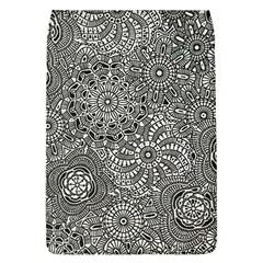 Flower Floral Rose Sunflower Black White Flap Covers (l)  by Alisyart