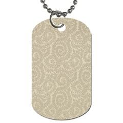 Leaf Grey Frame Dog Tag (two Sides) by Alisyart