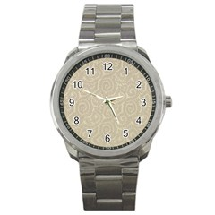 Leaf Grey Frame Sport Metal Watch by Alisyart