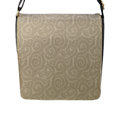 Leaf Grey Frame Flap Messenger Bag (l)  by Alisyart