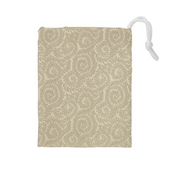 Leaf Grey Frame Drawstring Pouches (large)