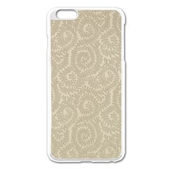 Leaf Grey Frame Apple Iphone 6 Plus/6s Plus Enamel White Case by Alisyart