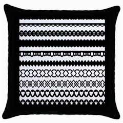Love Heart Triangle Circle Black White Throw Pillow Case (black) by Alisyart