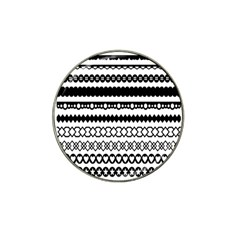 Love Heart Triangle Circle Black White Hat Clip Ball Marker (4 Pack) by Alisyart