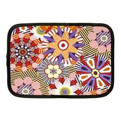 Flower Floral Sunflower Rainbow Frame Netbook Case (medium)  by Alisyart